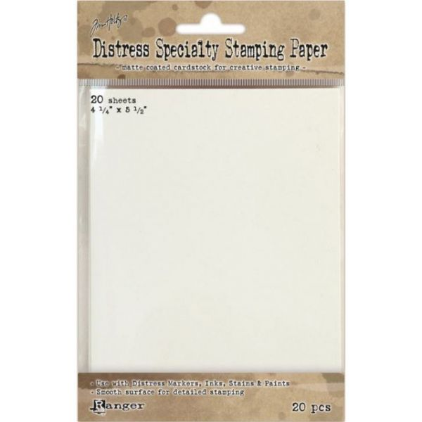 "Distress Specialty Stamping Paper 4.25""X5.5"" 20 Sheets"