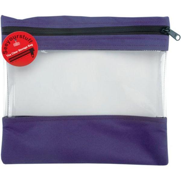 """Seeyourstuff Clear Storage Bag 12""""X13"""""""