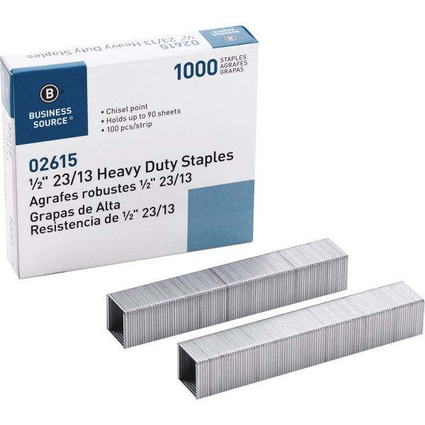 "Business Source Heavy-Duty 1/2"" Staples"