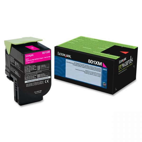 Lexmark 801XM Magenta Extra High Yield Return ProgramToner Cartridge (80C1XM0)
