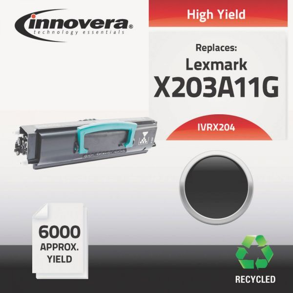 Innovera Remanufactured Lexmark X203A11G (X-204) High-Yield Toner Cartridge