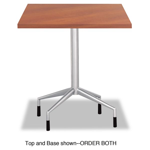 "Safco RSVP Series Standard Fixed Height Table Base, 28"" dia. x 29h, Silver"