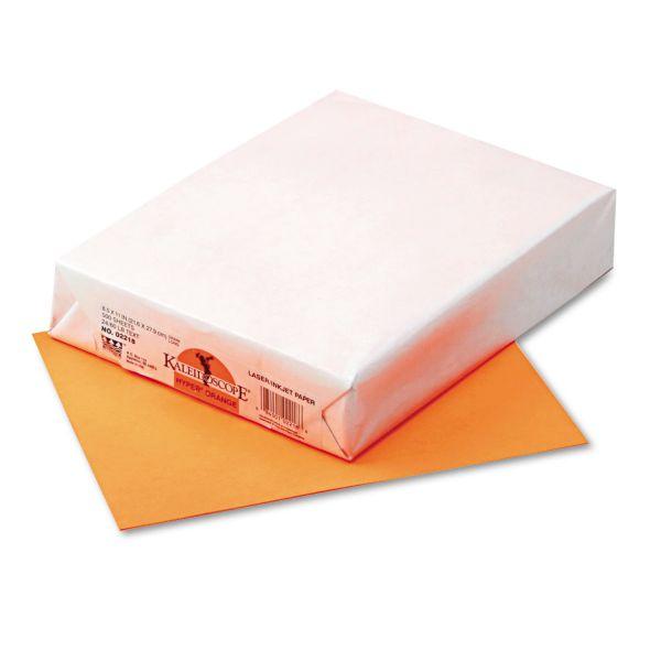 Pacon Kaleidoscope Multipurpose Colored Paper, 24 lb, 8 1/2 x 11, Orange, 500 Sheets/Ream