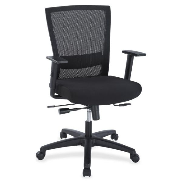Lorell Ergonomic Mid-Back Mesh Office Chair