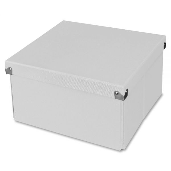 "Samsill Pop n' Store Medium Square Box - White - 10.63""x6""x10.63"""