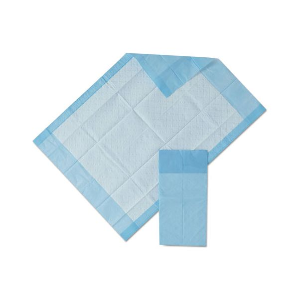 Medline Protection Plus Disposable Underpads, 17 x 24, Blue, 25/Bag