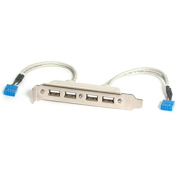 StarTech.com 4 Port USB A Female Slot Plate Adapter