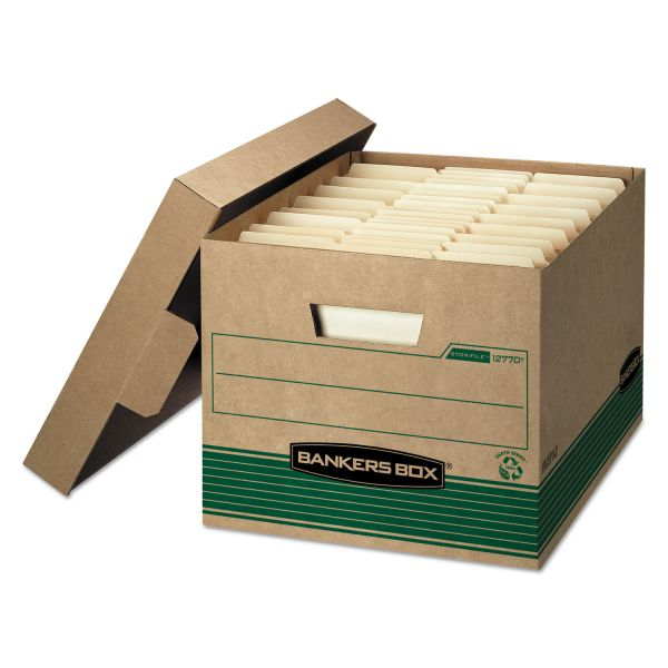 Bankers Box 100% Recycled Medium-Duty Storage Boxes With Lift-Off Lids