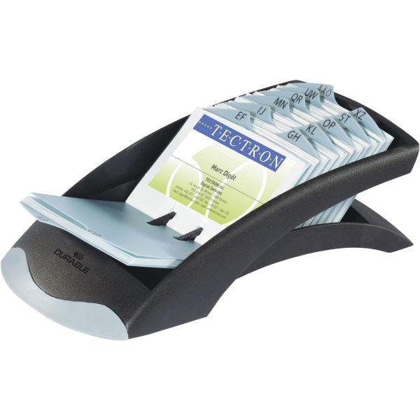 Durable VISIFIX Desk Business Card File