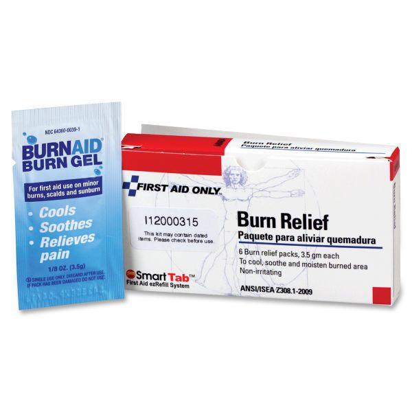 First Aid Only Burn Treatment Pack Refills