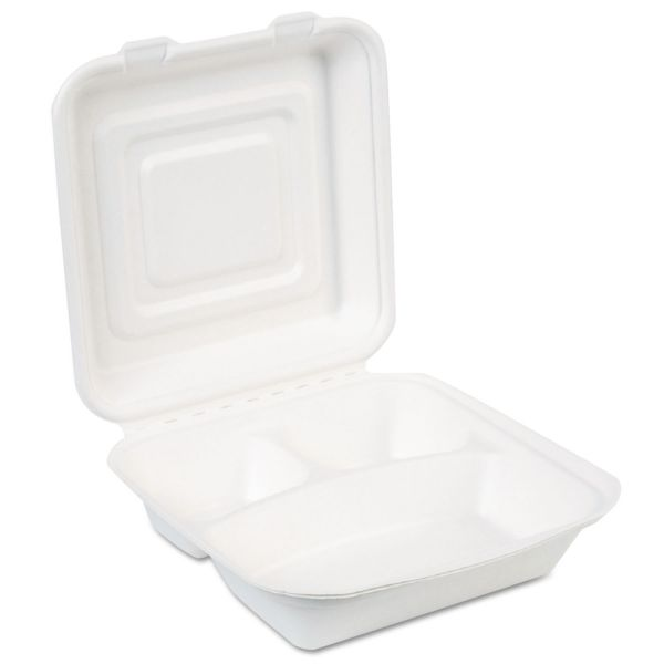 Dixie EcoSmart Takeout Molded Fiber Clamshell Food Containers