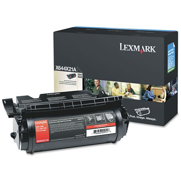 Lexmark X644X21A Black Extra High Yield Toner Cartridge