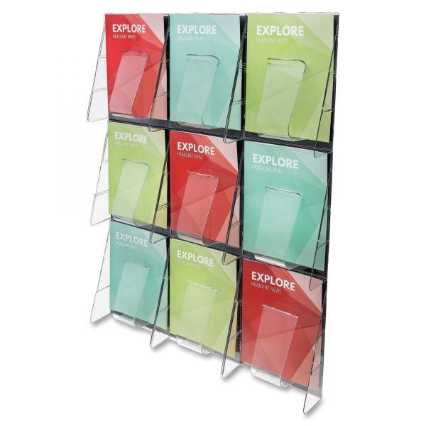 deflecto 9-Pocket Wall Mount Literature Racks