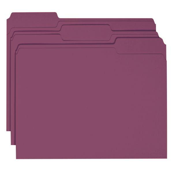 Smead Maroon Colored File Folders