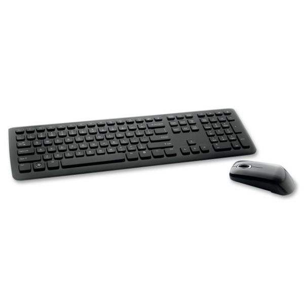 Verbatim Wireless Slim Keyboard and Optical Mouse - Black