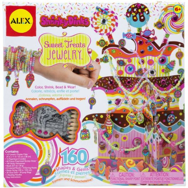 ALEX Toys Shrinky Dinks Sweet Treats Jewelry Kit