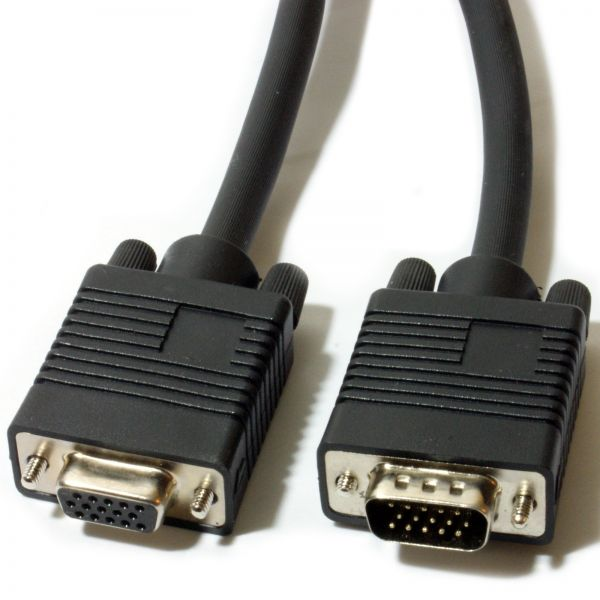 4XEM 3FT High Resolution Coax M/F VGA Extension Cable