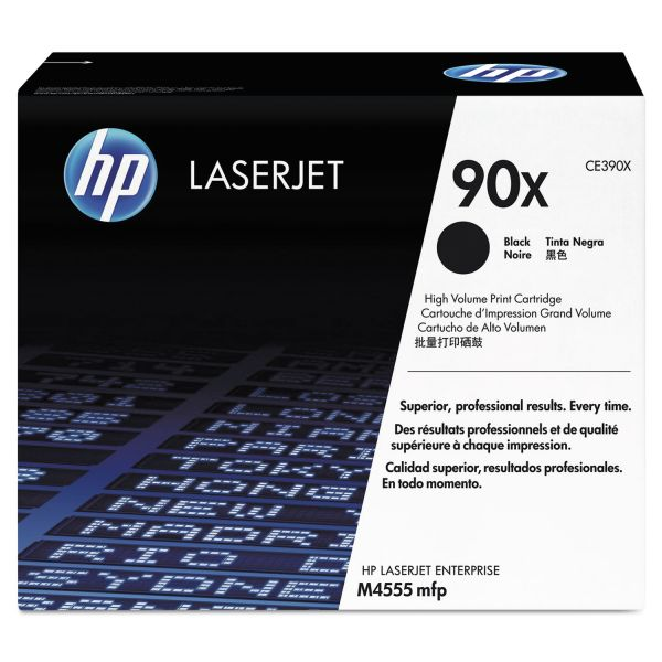 HP 90X Black High Yield Toner Cartridge (CE390X)