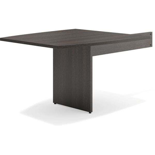 "HON basyx by HON Modular Conference Table End | Slab Base | Boat End | 48""L"