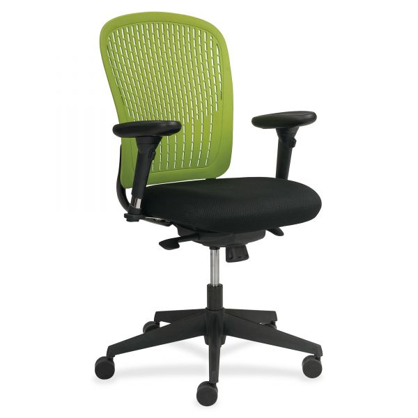 Safco Adatti Adjustable Arms Black Fabric Task Chair