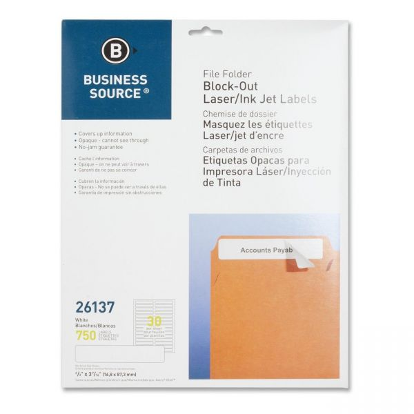 Business Source Block-Out File Folder Labels