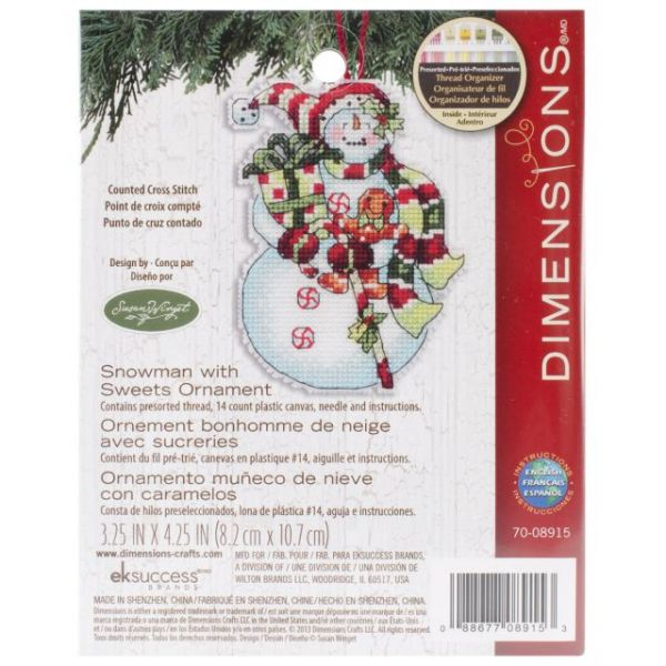 Dimensions Susan Winget Snowman Ornament Counted Cross Stitch Kit