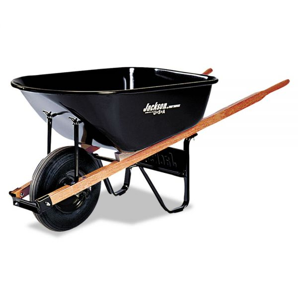 Jackson Medium Duty Wheelbarrow, 6 Cubic Feet Capacity