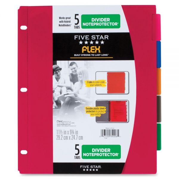 Five Star Flex Index Divider Noteprotectors
