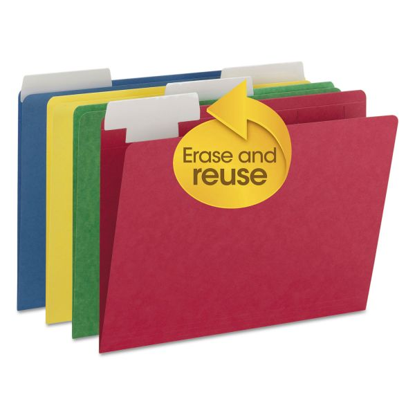 Smead FlexiFolder Colored File Folders with Movable Tabs