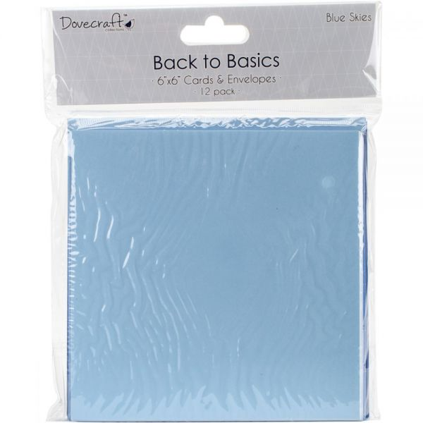 "Dovecraft Back To Basics Cards & Envelopes 6""X6"" 12/Pkg"