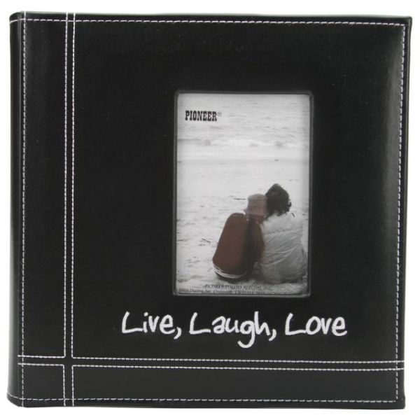 """Embroidered Stitched Leatherette Photo Album 9""""X9"""""""