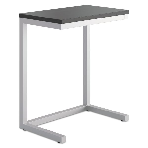 basyx Occasional Cantilever Table, 24w x 15d x 20 3/4h, Black/Silver