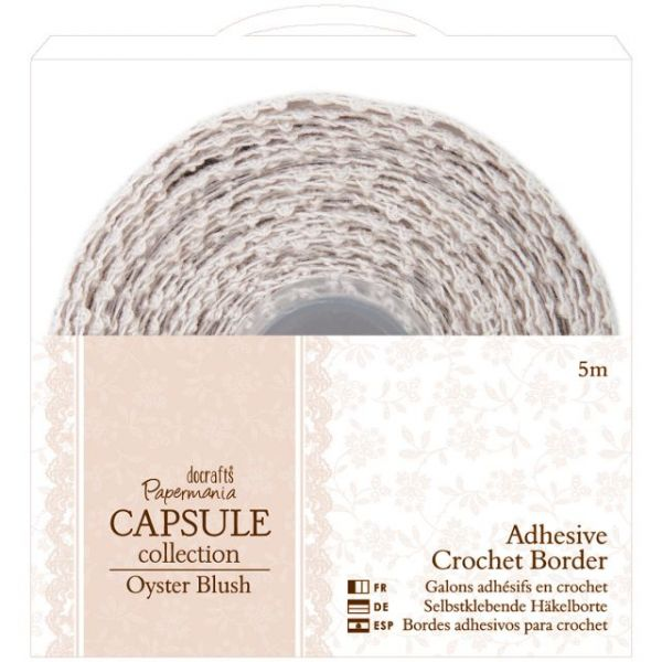 Papermania Oyster Blush Adhesive Crochet Border
