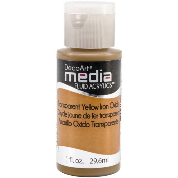 Deco Art Media Transparent Yellow Iron Oxide Fluid Acrylics