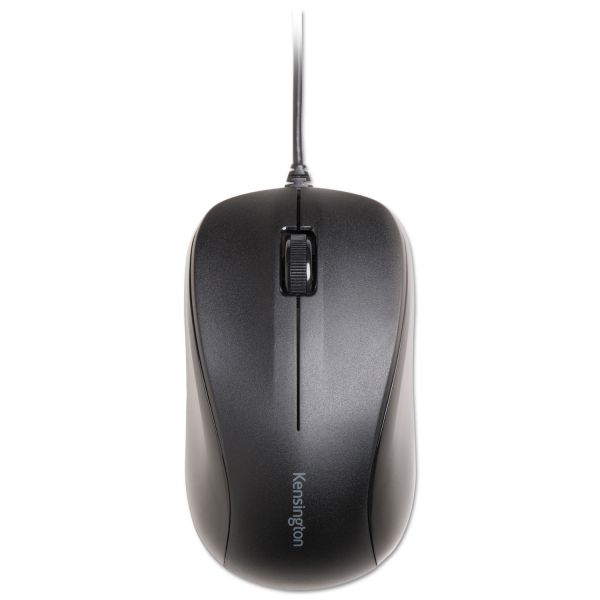Kensington Wired USB Mouse for Life, Left/Right, Black