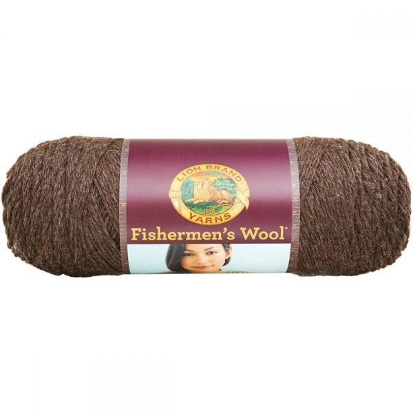 Lion Brand Fishermen's Wool Yarn - Nature's Brown