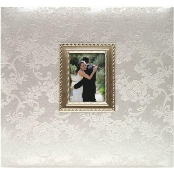 """Floral Fabric Post Bound Album 12""""X12"""""""