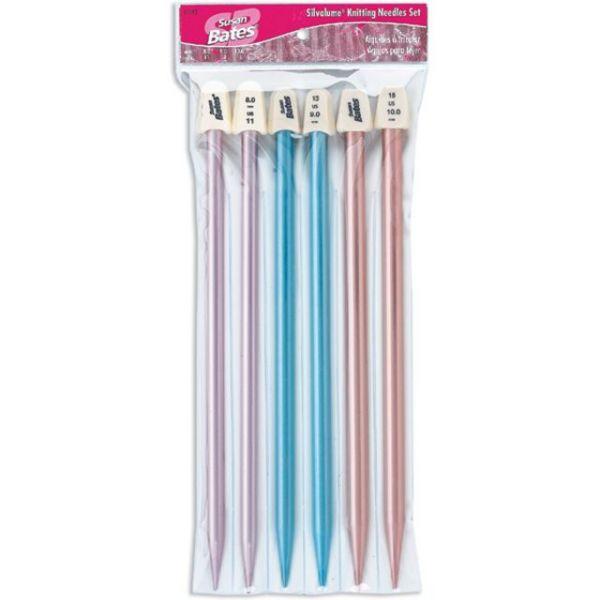 """Silvalume Single Point Knitting Needles 10"""" Gift Set"""