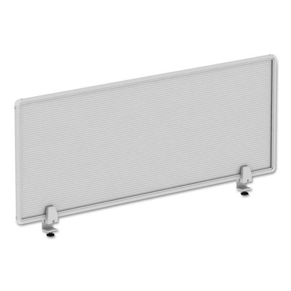 Alera Polycarbonate Privacy Panel, 47w x 18h, Silver
