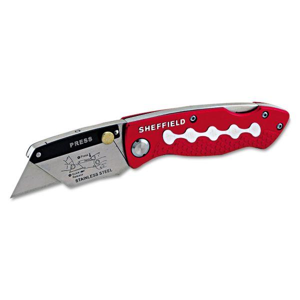 Great Neck Sheffield Lockback Knife, 1 Utility Blade, Red