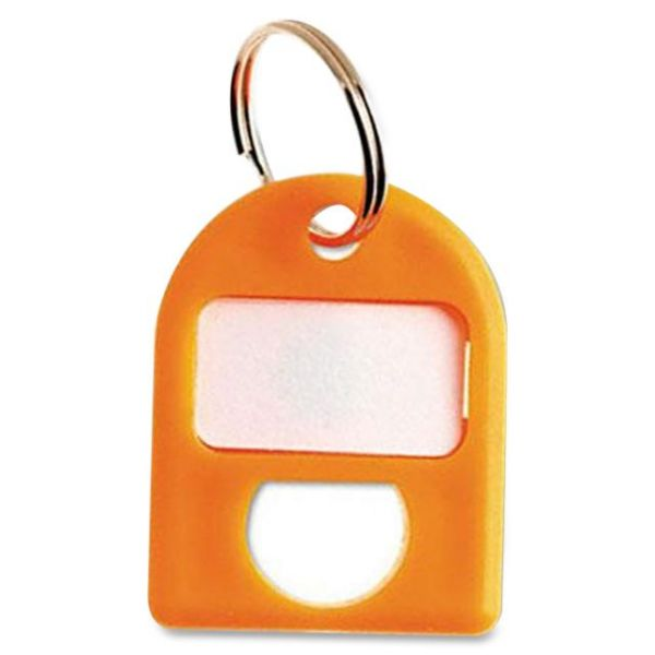 CARL Replacement Security Cabinet Key Tags, Orange, 8/Pack