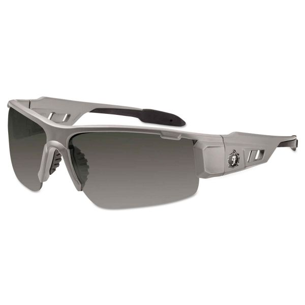 Ergodyne Smoke Lens/Gray Half Frame Safety Glasses