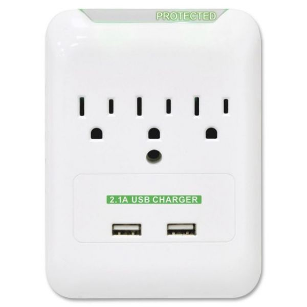 Compucessory 3 Outlets Surge Suppressor