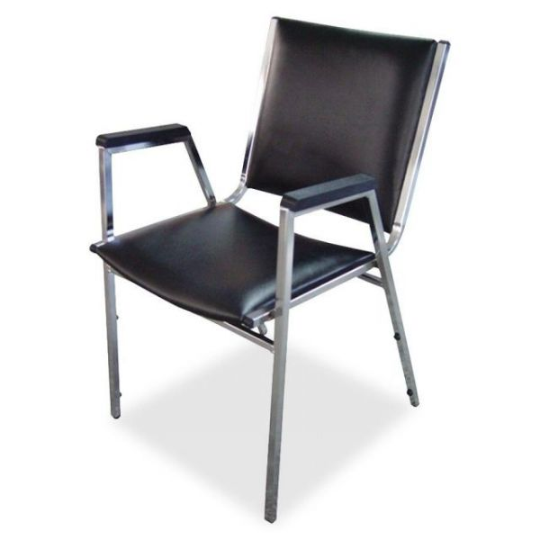 Lorell Plastic Arm Stacking Chairs