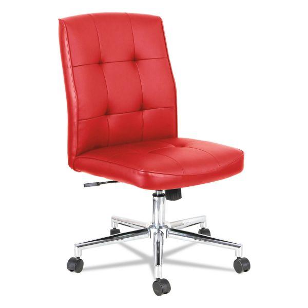 OIF Slimline Swivel/Tilt Task Chair, Red with Chrome Base