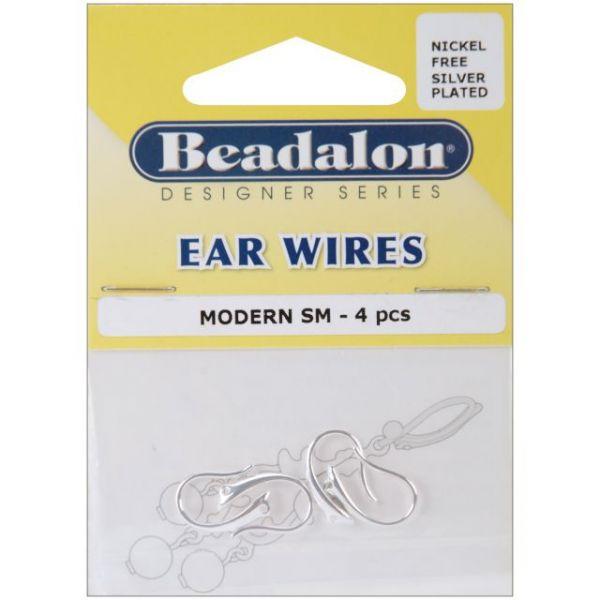 Beadalon Ear Wires Modern 4/Pkg