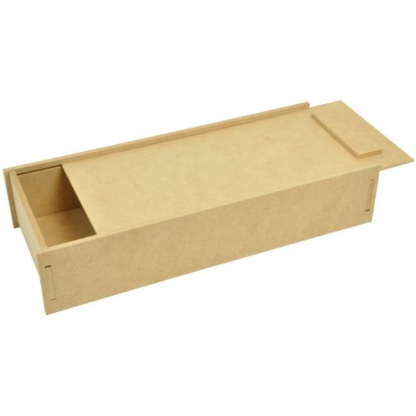 Beyond The Page MDF Pencil Box W/Slide Lid