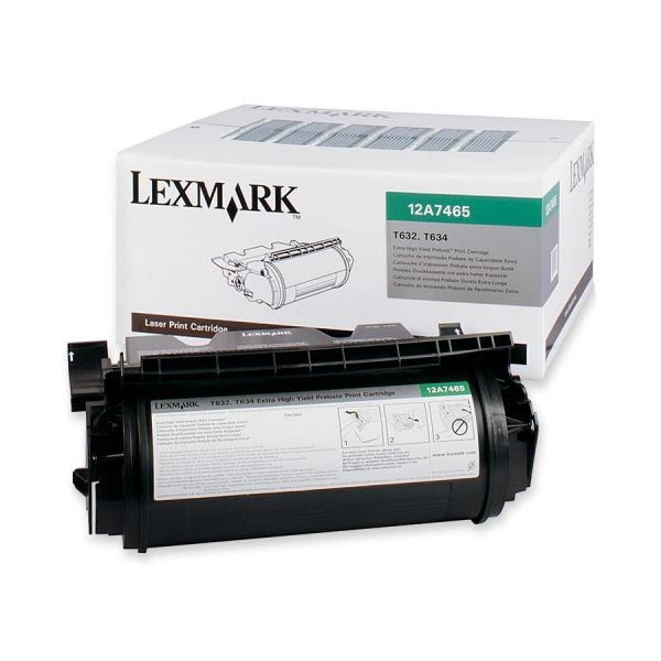 Lexmark 12A7465 Black Extra High Yield Return Program Toner Cartridge