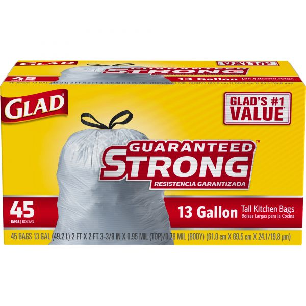 Glad Strong Tall 13 Gallon Trash Bags