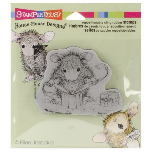 """Stampendous House Mouse Cling Rubber Stamp 3.5""""X4"""" Sheet"""
